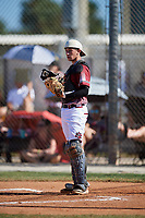 Kyle Smith during the WWBA World Championship at the Roger Dean Complex on October 20, 2018 in Jupiter, Florida.  Kyle Smith is a catcher from Wilmington, North Carolina who attends New Hanover High School and is committed to North Carolina State.  (Mike Janes/Four Seam Images)