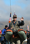 Daniel Wassmund, with Nevada State Parks, walks in the annual Nevada Day parade in Carson City, Nev. on Saturday, Oct. 29, 2016. <br />Photo by Cathleen Allison