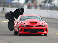 Oct 2, 2020; Madison, Illinois, USA; NHRA factory stock driver Stephen Bell during qualifying for the Midwest Nationals at World Wide Technology Raceway. Mandatory Credit: Mark J. Rebilas-USA TODAY Sports