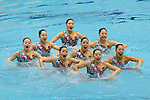 Japan team group (JPN), <br /> AUGUST 10, 2014 - Synchronised Swimming : <br /> Japan Synchro Challenge Cup 2014 <br /> Exhibition <br /> Team Technical Routine <br /> at Tatsumi International Swimming Pool, Tokyo, Japan. <br /> (Photo by YUTAKA/AFLO SPORT) [1040]