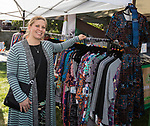 Joyce Collins in the LuLaRoe booth during the inaugural Bud and Brew Music Festival in Wingfield Park in downtown Reno on Saturday, Sept. 23, 2017.