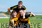 Patrick Crehan, Dr. Crokes Conor Bohane, Dr. Croke Richie Farrissey, Dr. Crokes Dr Crokes team celebrate after winning the Kerry County Intermediate Hurling Championship Final match between Dr Crokes and Tralee Parnell's at Austin Stack Park in Tralee