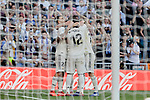 Real Madrid's players celebrate goal during La Liga match between Real Madrid and Real Club Celta de Vigo at Santiago Bernabeu Stadium in Madrid, Spain. March 16, 2019. (ALTERPHOTOS/A. Perez Meca)
