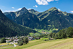 Austria, Vorarlberg, Montafon, St. Gallenkirch: resort at Montafon region with parish church St. Gallus | Oesterreich, Vorarlberg, Montafon, Sankt Gallenkirch: Urlaubssort im Montafon mit Pfarrkirche St. Gallus