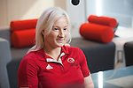 FEBRUARY 26, 2016, TORONTO, ON; Team Canada Chef de Mission for the 2016 Paralympic Team, Chantal Petitclerc and Paralympic hopeful Melanie Hawtin visited Canadian Tire's head office for interviews for a corporate video.  Photo: Dan Galbraith / Canadian Paralympic Committee
