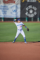 Jacob Amaya (13) of the Ogden Raptors during the game against the Orem Owlz at Lindquist Field on June 19, 2018 in Ogden, Utah. The Raptors defeated the Owlz 7-2. (Stephen Smith/Four Seam Images)
