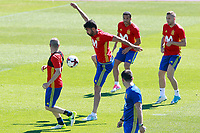 Spain's Andres Iniesta, Diego Costa, Pedro Rodriguez and Gerard Deulofeu during training session. June 5,2017.(ALTERPHOTOS/Acero)