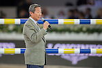Dr. Simon Yip walks the course before the Hong Kong Jockey Club Trophy competition, part of the Longines Masters of Hong Kong on 10 February 2017 at the Asia World Expo in Hong Kong, China. Photo by Marcio Rodrigo Machado / Power Sport Images