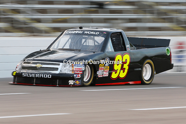 Camping World Truck Series driver Chris Jones (93) in action during the NCWTS Winstar World Casino 400 race at Texas Motor Speedway in Fort Worth,Texas.