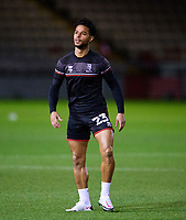 Lincoln City's Liam Bridcutt during the pre-match warm-up<br /> <br /> Photographer Andrew Vaughan/CameraSport<br /> <br /> EFL Papa John's Trophy - Northern Section - Group E - Lincoln City v Manchester City U21 - Tuesday 17th November 2020 - LNER Stadium - Lincoln<br />  <br /> World Copyright © 2020 CameraSport. All rights reserved. 43 Linden Ave. Countesthorpe. Leicester. England. LE8 5PG - Tel: +44 (0) 116 277 4147 - admin@camerasport.com - www.camerasport.com