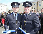 Attending the Garda graduations in Templemore on Thursday were award winners Ferghal Bolger, Gracedieu, Waterford  winner of the International Police Association Scholarship and will spend a number of months with the Norwegian Police Academy and Eoin O'Malley, Carraroe, Galway winner of the Gary Sheehan Memorial Medal.<br />  Photograph Liam Burke/Press 22