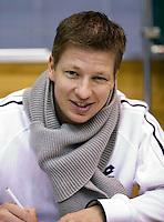 02-03-11Tennis, Oekraine, Charkov, Daviscup, Oekraine - Netherlands, Team manager Marc Wolfertz