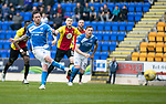 St Johnstone v Partick Thistle…13.05.17     SPFL    McDiarmid Park<br />Danny Swanson scores from the penalty spot after he was brought down by Niall Keown<br />Picture by Graeme Hart.<br />Copyright Perthshire Picture Agency<br />Tel: 01738 623350  Mobile: 07990 594431