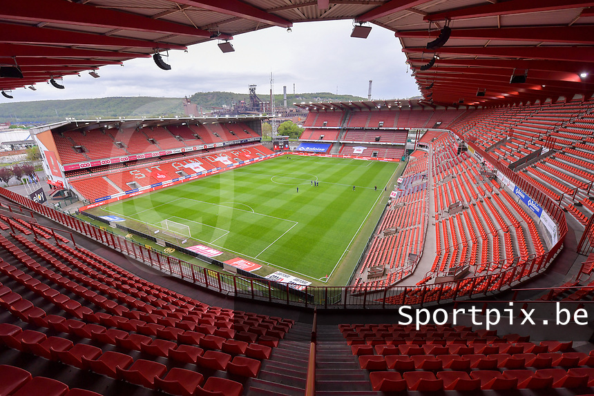 Illustrative photo of the Stade Maurice Dufrasne - Sclessin taken before a female soccer game between Standard Femina de Liege and AA Gent Ladies on the 6th matchday in play off 1 of the 2020 - 2021 season of Belgian Scooore Womens Super League , tuesday 11 th of May 2021  in Liege , Belgium . PHOTO SPORTPIX.BE | SPP | STIJN AUDOOREN