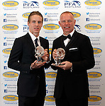 Player of the year Stefan Johansen with Manager of the year John Hughes