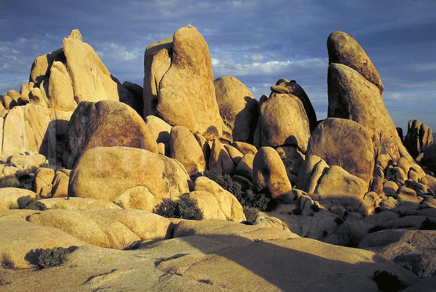 Rock formation. California USA Joshua Tree National Monument.