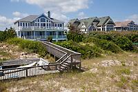 Vacation Beach Houses at Corolla, North Carolina's Outer Banks.