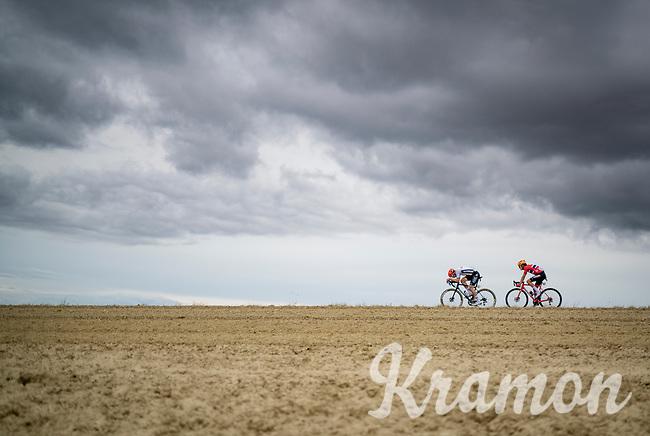Jonas Koch (DEU/CCC) & Torstein Traeen (NOR/UnoX)<br /> <br /> Men's Elite Road Race from Imola to Imola (258km)<br /> <br /> 87th UCI Road World Championships 2020 - ITT (WC)<br /> <br /> ©kramon