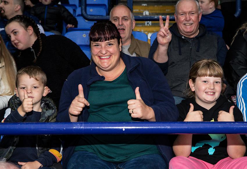 Bolton Wanderers' supporters enjoying the pre-match atmosphere<br /> <br /> Photographer Andrew Kearns/CameraSport<br /> <br /> EFL Leasing.com Trophy - Northern Section - Group F - Bolton Wanderers v Bradford City -  Tuesday 3rd September 2019 - University of Bolton Stadium - Bolton<br />  <br /> World Copyright © 2018 CameraSport. All rights reserved. 43 Linden Ave. Countesthorpe. Leicester. England. LE8 5PG - Tel: +44 (0) 116 277 4147 - admin@camerasport.com - www.camerasport.com