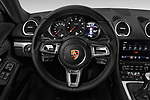 Car pictures of steering wheel view of a 2017 Porsche 718 Cayman 3 Door Coupe Steering Wheel