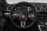 Car pictures of steering wheel view of a 2017 Porsche 718 Cayman 3 Door Coupe Steering Wheel