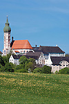 Germany, Bavaria, Upper Bavaria, Andechs: monastery Andechs