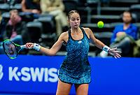 Alphen aan den Rijn, Netherlands, December 15, 2018, Tennispark Nieuwe Sloot, Ned. Loterij NK Tennis,  Semifinal women: Lesley Kerkhove (NED)<br /> Photo: Tennisimages/Henk Koster