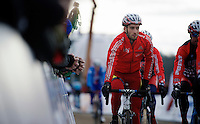 Ian Field (GBR) warming up<br /> <br /> Elite Men's race<br /> <br /> 2015 UCI World Championships Cyclocross <br /> Tabor, Czech Republic