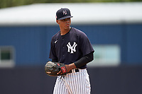 FCL Yankees pitcher Alfred Vega (56) during a game against the FCL Blue Jays on June 29, 2021 at the Yankees Minor League Complex in Tampa, Florida.  (Mike Janes/Four Seam Images)