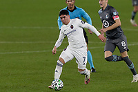 ST PAUL, MN - NOVEMBER 4: Ignacio Aliseda #7 of Chicago Fire FC controls the ball during a game between Chicago Fire and Minnesota United FC at Allianz Field on November 4, 2020 in St Paul, Minnesota.