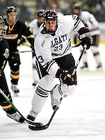 2 January 2009: Colgate Raiders' forward Sean Carty, a Junior from Glen Ellyn, IL, in action against the University of Vermont Catamounts during the second game of the 2009 Catamount Cup Ice Hockey Tournament hosted by the University of Vermont at Gutterson Fieldhouse in Burlington, Vermont. The Catamounts defeated the Raiders 6-4 to move onto the championship game against the St. Lawrence Saints...Mandatory Photo Credit: Ed Wolfstein Photo