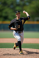 Pittsburgh Pirates Mason Ward (12) during a minor league Spring Training game against the Philadelphia Phillies on March 13, 2019 at Pirate City in Bradenton, Florida.  (Mike Janes/Four Seam Images)
