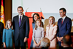 King Felipe VI of Spain, Queen Letizia of Spain, Princess Leonor of Spain, Princess Sofia of Spain, Ana Pastor and Pedro Sanchez attends to the Reading of the Spanish Constitution for the 40th anniversary of its approval by the Congress at Instituto Cervantes in Madrid, Spain. October 31, 2018. (ALTERPHOTOS/A. Perez Meca)