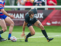 London Broncos Jay Pitts scoring during the Betfred Championship match between London Broncos and Rochdale Hornets at Castle Bar , West Ealing , England  on 17 June 2018. Photo by Andrew Aleksiejczuk / PRiME Media Images.
