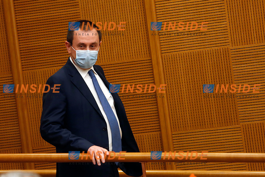 Italia Viva Vice President of the Lower Chamber Ettore Rosato during the press conference of Italia Viva party that officially opens the Government crisis. Indeed, ministers of his party ha resigned as protest.<br /> Rome(Italy), January 13th 2021<br /> Photo Samantha Zucchi/Insidefoto