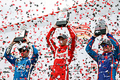 2017 Verizon IndyCar Series - Firestone Grand Prix of St. Petersburg<br /> St. Petersburg, FL USA<br /> Sunday 12 March 2017<br /> Sebastien Bourdais , Simon Pagenaud , Scott Dixon celebrating in victory lane<br /> World Copyright:Sam Cobb/LAT Images