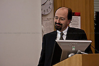 Bill Emmott, English journalist - 2011<br /> <br /> London, 07-08-09/02/2011. LSE (London School of Economics) Italian Society organised a series of events in London to celebrate the 150th Anniversary of the Italian Unification. Speakers included, amongst others, Bill Emmott (English journalist, former editor of The Economist), Gianluca Vialli (Italian football manager and former player), Fabio Caressa (Italian journalist and football commentator), Giacomo Vaciago (Professor of economic policy at the Catholic University of Milan) and Andrea Prat (Professor of Economics at LSE).