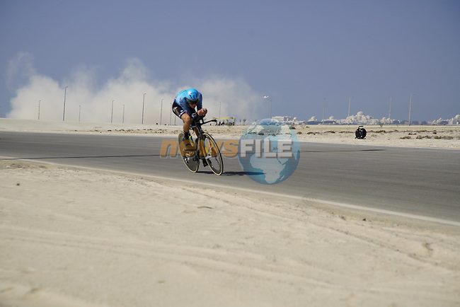 Stefan De Bod (RSA) Astana-Premier Tech during Stage 2 of the 2021 UAE Tour an individual time trial running 13km around  Al Hudayriyat Island, Abu Dhabi, UAE. 22nd February 2021.  <br /> Picture: Eoin Clarke | Cyclefile<br /> <br /> All photos usage must carry mandatory copyright credit (© Cyclefile | Eoin Clarke)