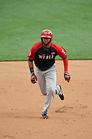 World Team Nomar Mazara (12) running the bases during the MLB All-Star Futures Game on July 12, 2015 at Great American Ball Park in Cincinnati, Ohio.  (Mike Janes/Four Seam Images)