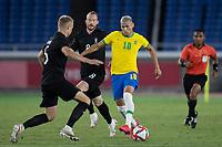 22nd July 2021; Stadium Yokohama, Yokohama, Japan; Tokyo 2020 Olympic Games, Brazil versus Germany; Richarlison of Brazil takes on Amos Pieper of Germany