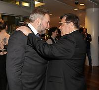 Denis Coderre <br /> et Thomas Mulcair<br /> au<br /> 13 ieme Gala Phenicia , 25 mai 2017
