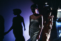Models walk the runway at Expo Boda, a high fashion wedding show held at the Convention Center. Monterrey, Mexico's cosmopolitan city, shows its face at the fashion show that features evening wear and bridal gowns. Capital of Nuevo Leon, Monterrey is Mexico's third largest city. Monterrey is described as most Americanized--where the pursuit of profit seems more American than Mexican.