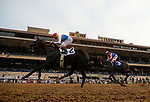 AUGUST 29 2021:  Medina Spirit and John Velazquez win the Shared Belief Stakes at Del Mar Fairgrounds in Del Mar, California on August 29, 2021. Evers/Eclipse Sportswire/CSM