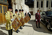 Trumpeters stand by at the election Lord Mayor of the City of London