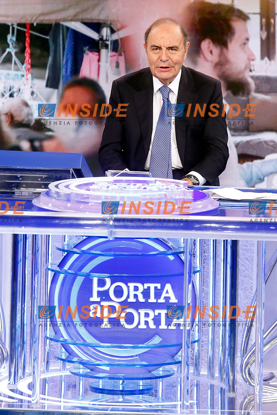 The tv host Bruno Vespa during the tv show Porta a Porta. <br /> Rome (Italy), November 19th 2020<br /> Photo Samantha Zucchi Insidefoto