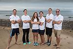 Team GB Rio Olympics marathon swimming team.<br /> Bernie Dietzig, Keri Anne Payne, Louise Imrie, Laurel Bailey, Jack Burnell & Kevin Renshaw<br /> Langland Bay<br /> 26.07.16<br /> ©Steve Pope Sportingwales