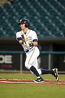 Montgomery Biscuits third baseman Richie Shaffer (12) at bat during a game against the Mississippi Braves on April 21, 2014 at Riverwalk Stadium in Montgomery, Alabama.  Montgomery defeated Mississippi 6-2.  (Mike Janes/Four Seam Images)