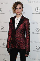 LOS ANGELES, CA - JANUARY 11: Evan Rachel Wood at The Art of Elysium's 7th Annual Heaven Gala held at Skirball Cultural Center on January 11, 2014 in Los Angeles, California. (Photo by Xavier Collin/Celebrity Monitor)