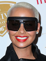 BEVERLY HILLS, CA, USA - OCTOBER 16: Model Amber Rose arrives at the XXIV Karat Launch Party held at the Beverly Hilton Hotel on October 16, 2014 in Beverly Hills, California, United States. (Photo by Xavier Collin/Celebrity Monitor)