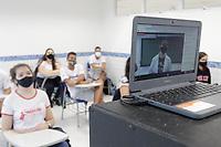 Campinas (SP), 01/02/2021 - Educação - Movimentação em colégio particular na cidade de Campinas, interior de São Paulo, nesta segunda-feira (01). As aulas presenciais nas instituições estão autorizadas a retomarem as aulas e demais atividades presenciais com 35% do número de alunos matriculados.